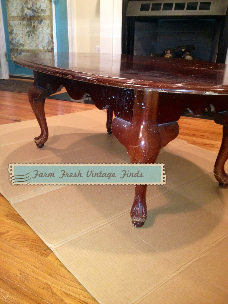 Coffee Table Makeover Farm Fresh Vintage Finds