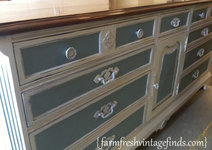 Duck Egg and Old White Dresser 4