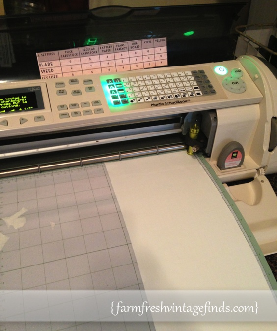 Cutting numbers on the Cricut