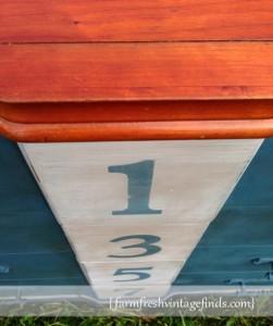 Numbered Dresser Front