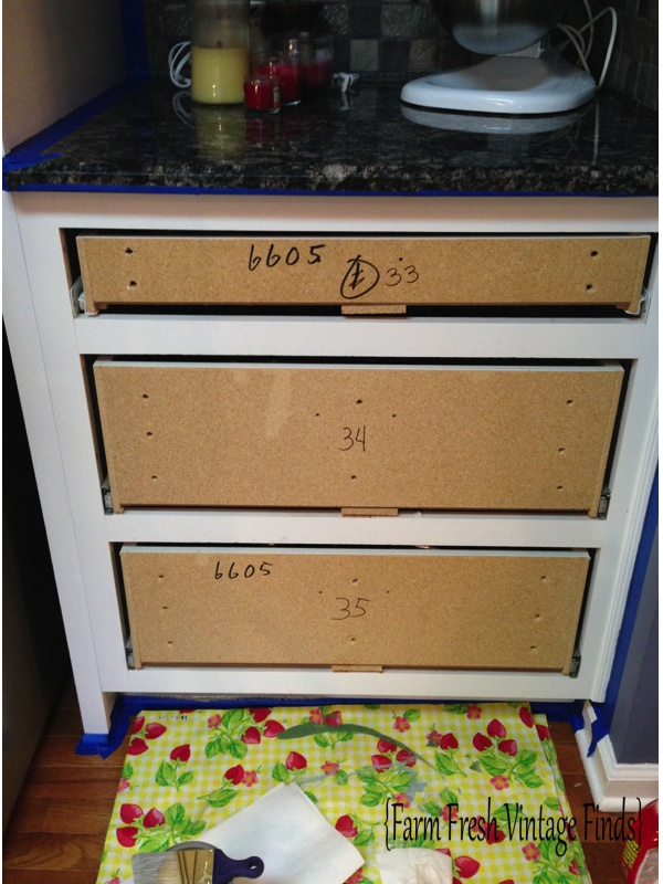 Thermofoil Cabinets in Annie Sloan French Linen Part 1  Farm Fresh