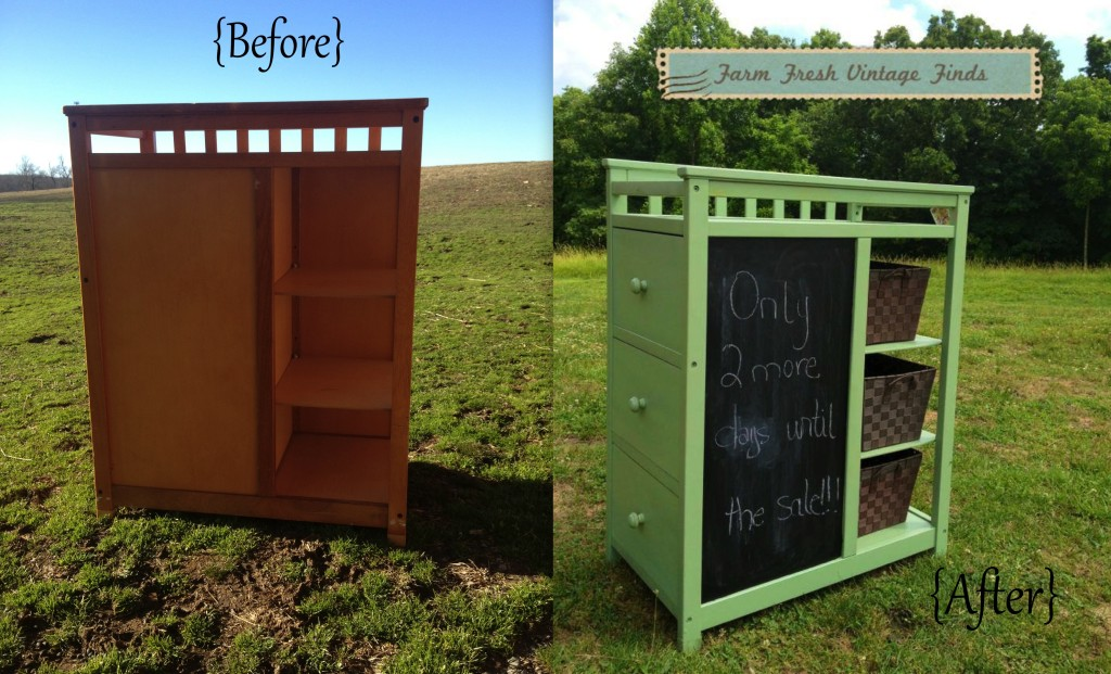 Green Changing Table Drink Station