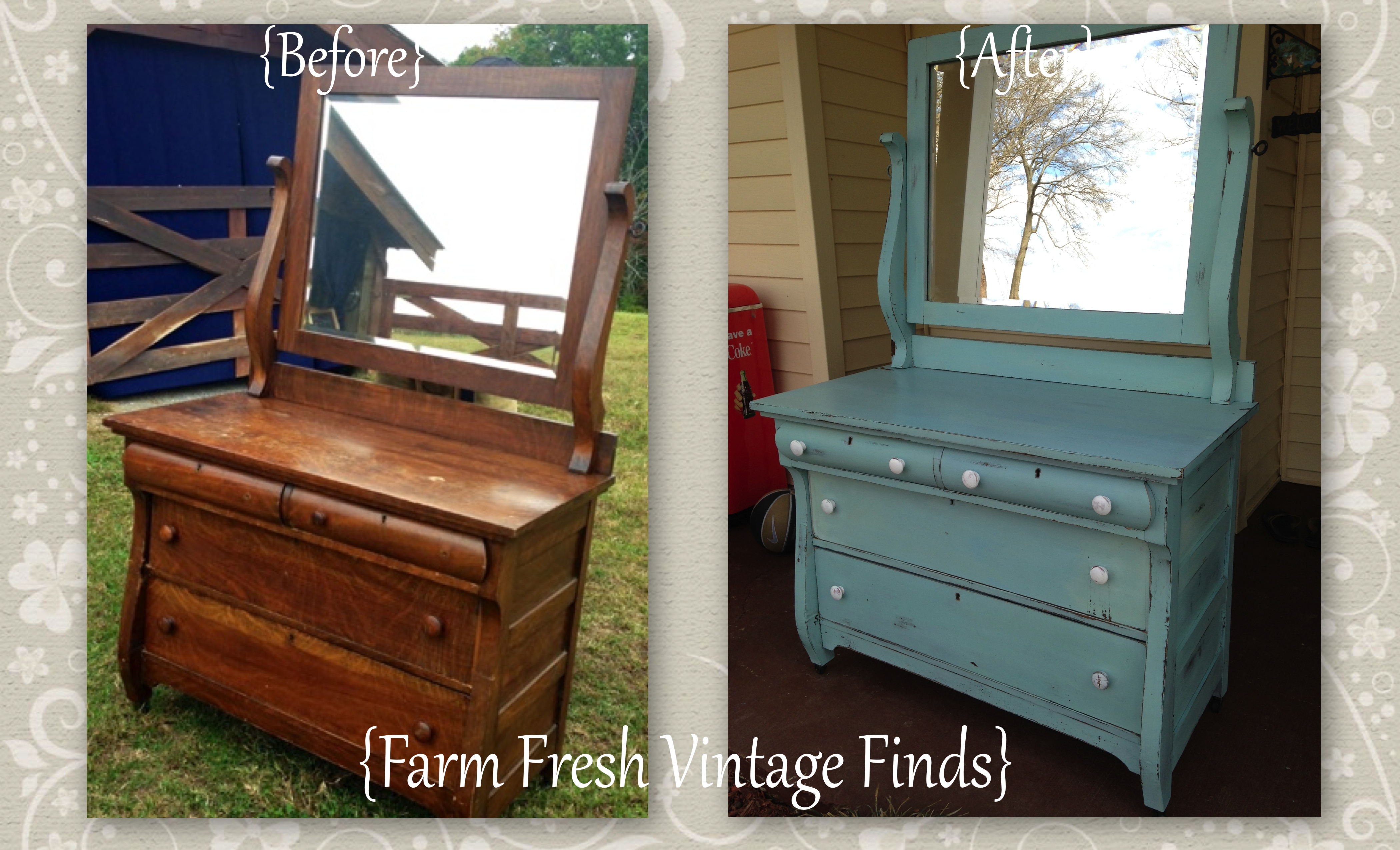Painting furniture before and after - Before And After Template