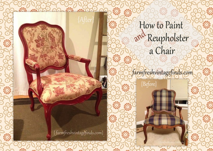 Red chair before and after