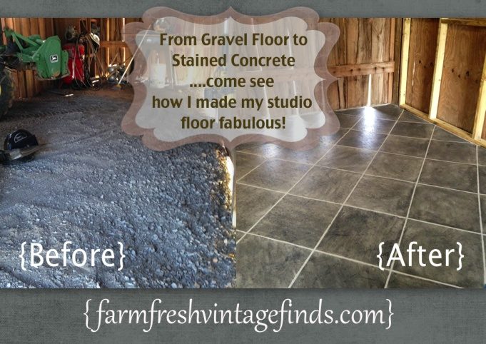 A Barn Makeover How I Stained Concrete Part 1 Farm