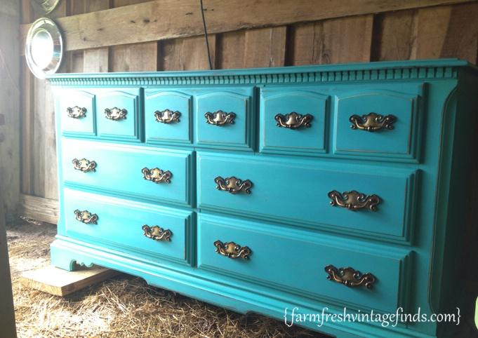 Turquoise Dresser 3