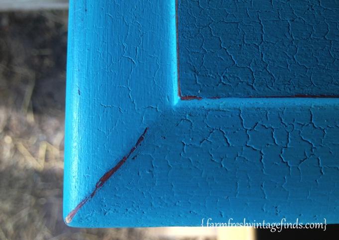 Turquoise Dresser Crackle 2