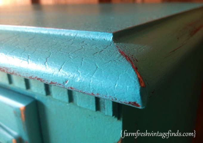 Turquoise Dresser Crackle