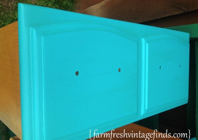 Turquoise Dresser Drawer
