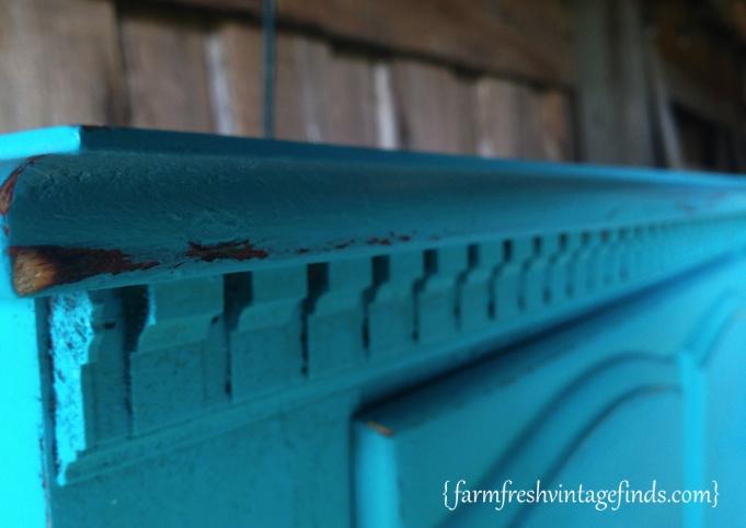 Turquoise Dresser Side