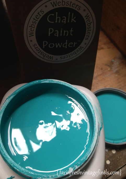 Turquoise Dresser Websters Paint