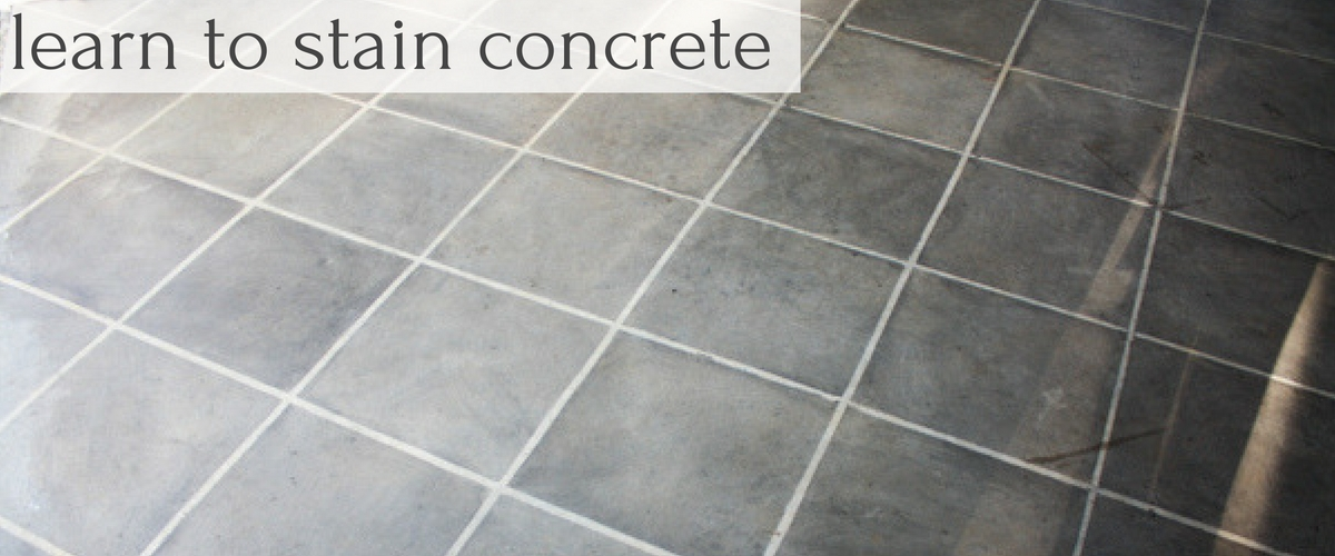 Learn how to Stain Concrete with Farm Fresh Vintage Finds