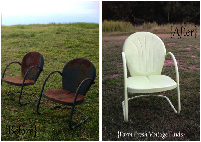 Lime Green Metal Chairs_1