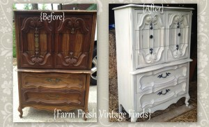 Before and After Country Grey Chest