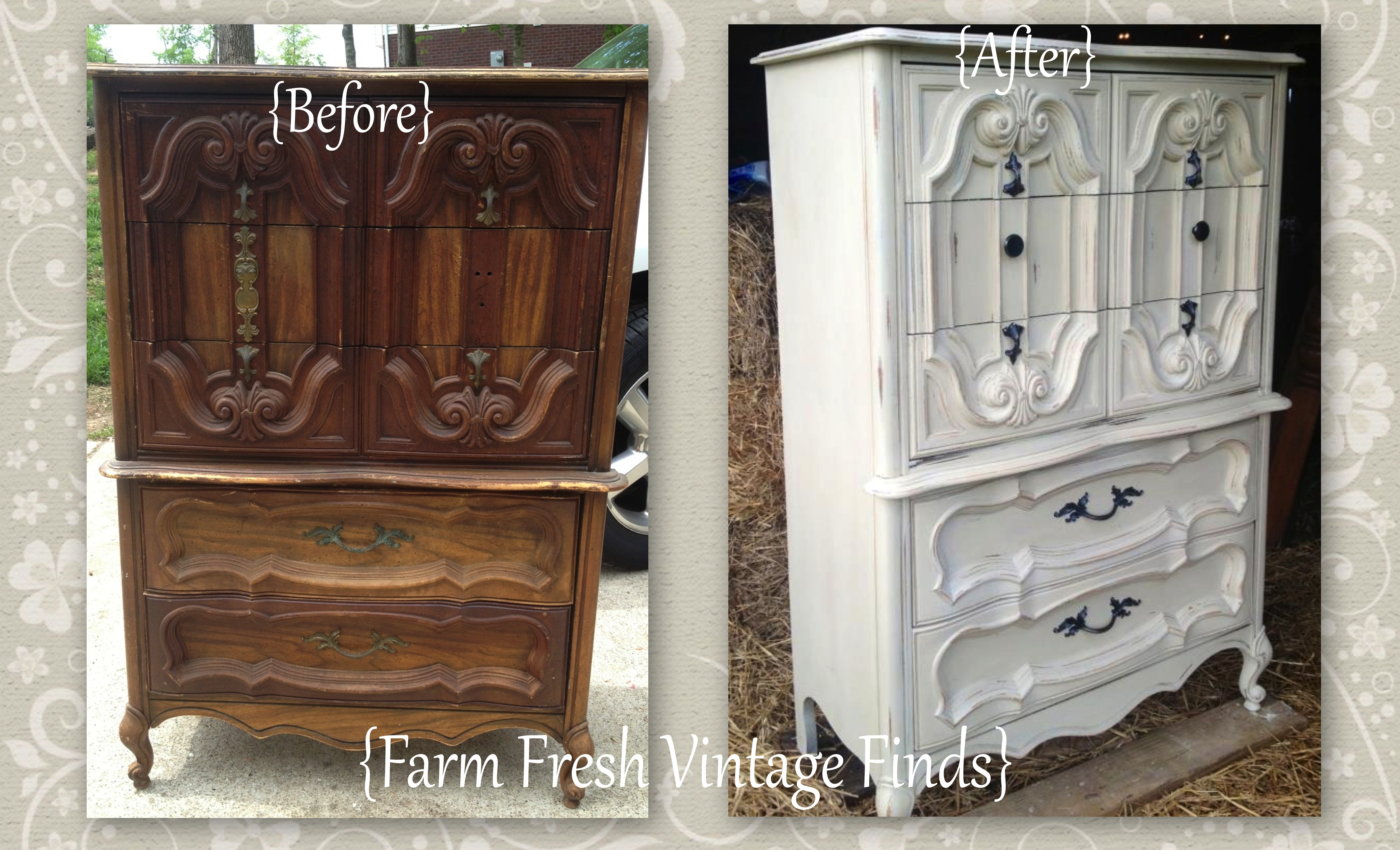 Chest Painted In Pale Grey Farm Fresh Vintage Finds
