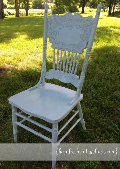 Chair Painted with Annie Sloan Duck Egg _0