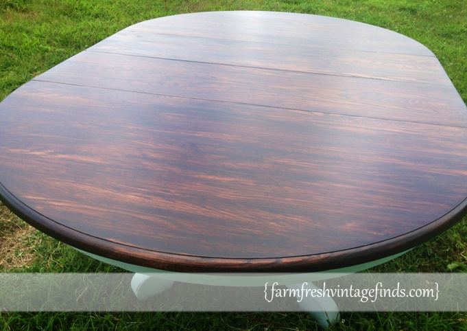 Minwax Stained Table Top