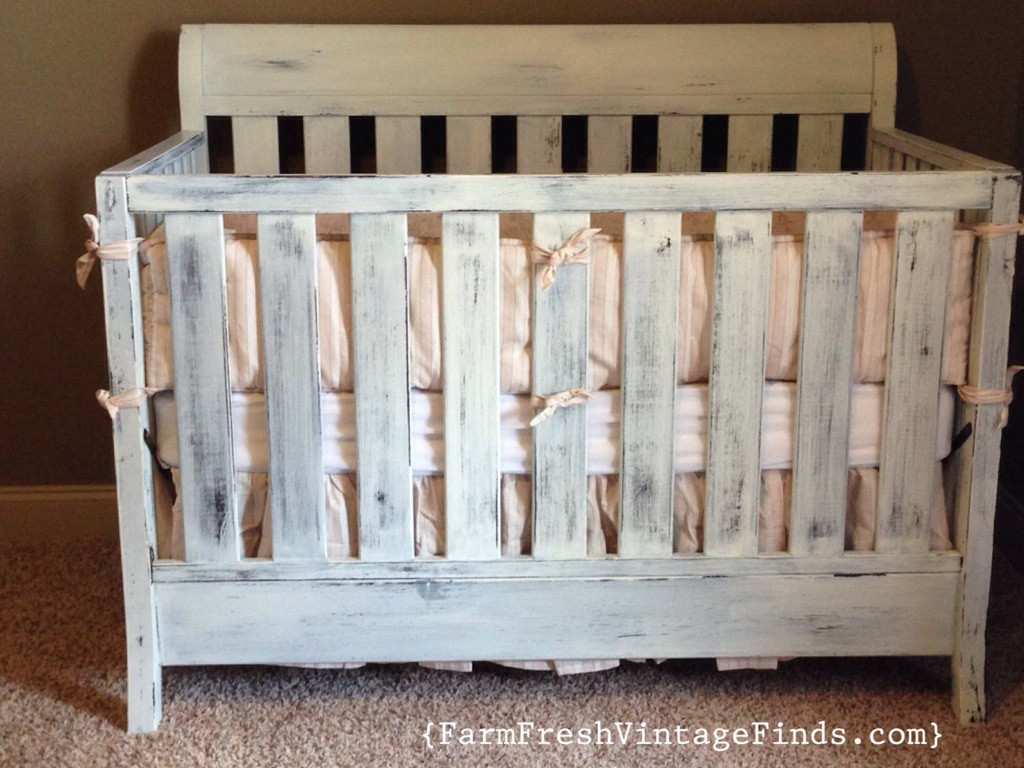 Crib In Miss Mustard Seeds Linen Milk Paint