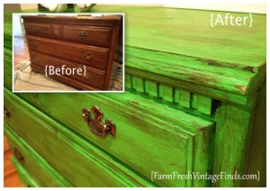 Antibes Dresser Before and After