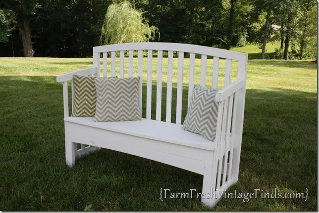 Drop Side Crib Turned Bench