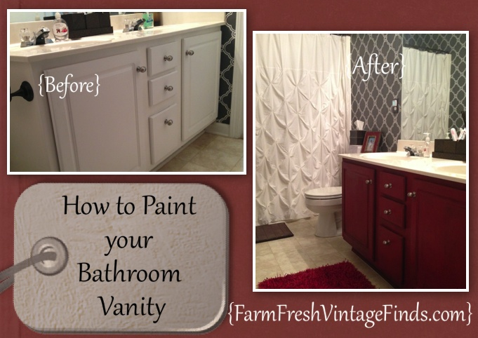 Refinishing your kitchen or bathroom cabinets cabinet refinishing - How To Transform Your Bathroom Vanity Farm Fresh Vintage