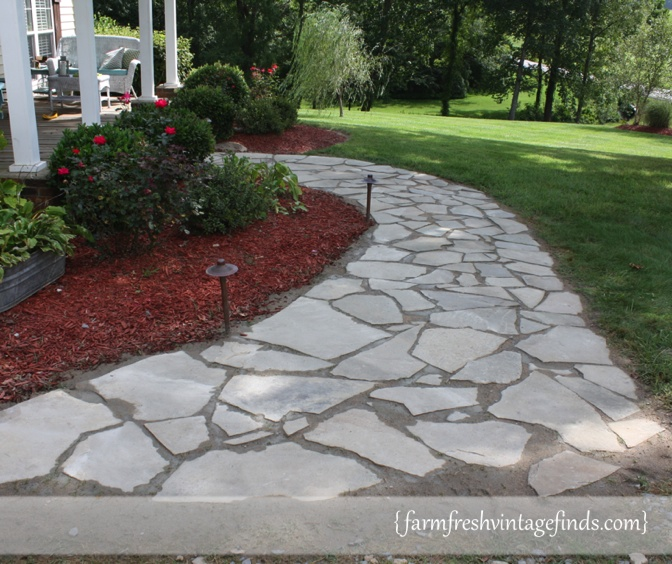 How to build a sidewalk farm fresh vintage finds for Removing concrete walkway