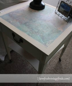 Decoupage Table from the sid