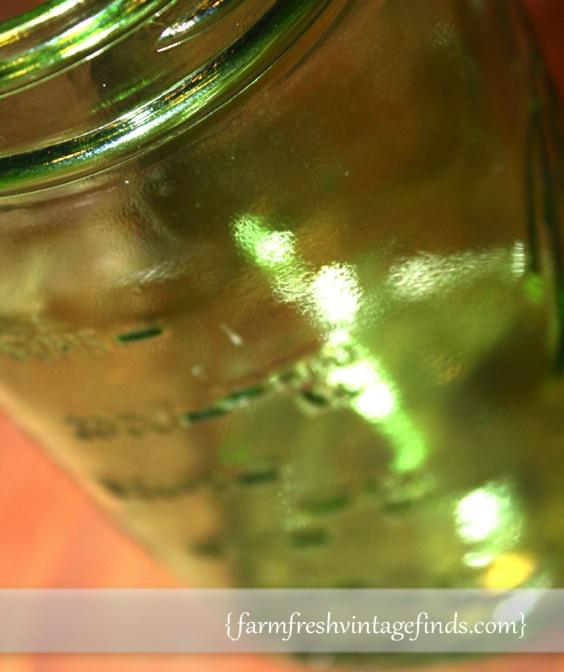 Vintage Green Ball Jar Side