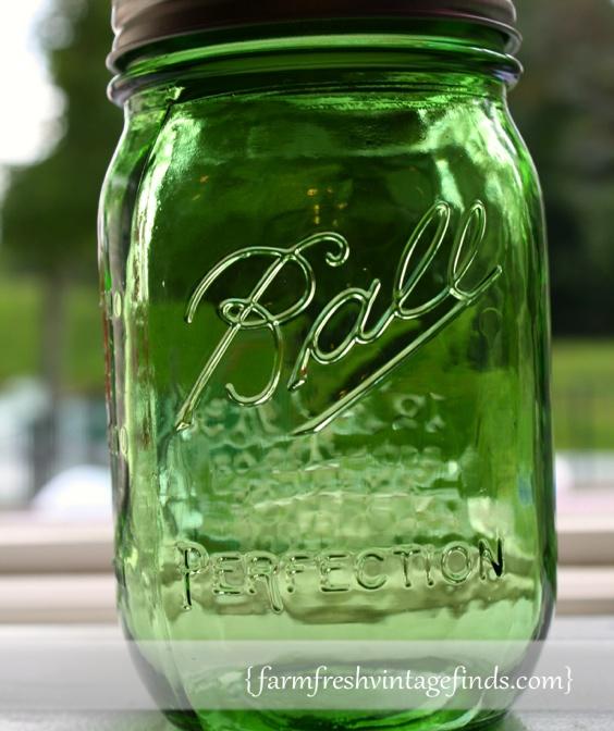 Vintage Green Ball Jar