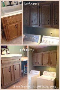 Before and After Laundry Room