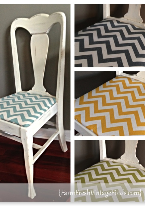 Chairs With Chevron Fabric