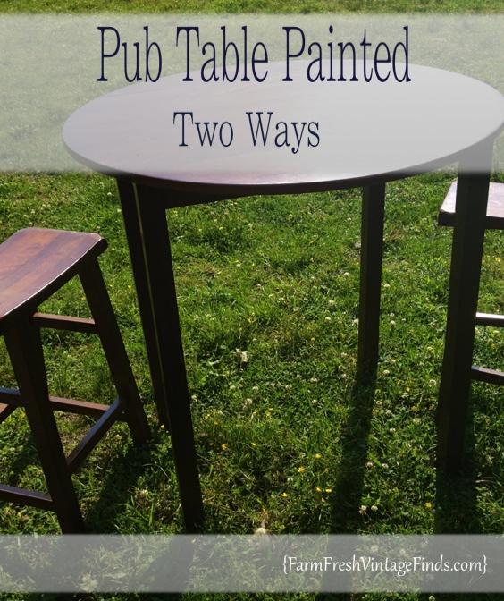 Painted Pub Table