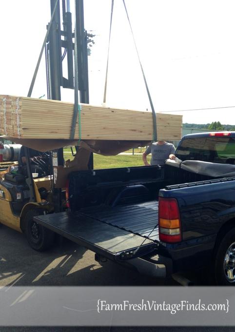 Picking Up Lumber