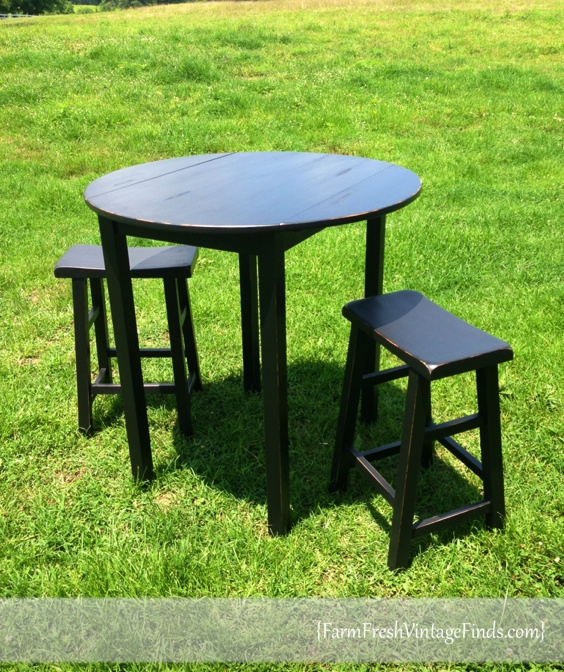 Pub Table And Stools In Sherwin Williams Tricorn Black