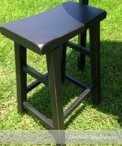 Saddle Stool Painted in SW Tricorn Black