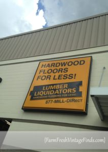 Visiting the Lumber Liquidators Store