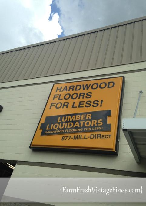 Visiting the Lumber Liquidators Store