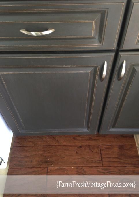 Distressed Graphite Cabinets