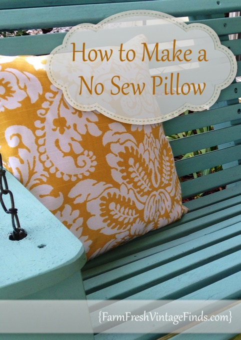 How to Make a No Sew Pillow