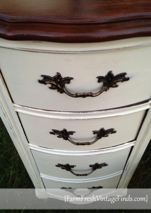 Old White Desk Drawers