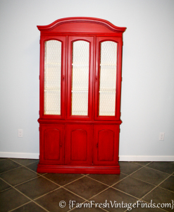 General Finishes Holiday Red Paint Hutch-5