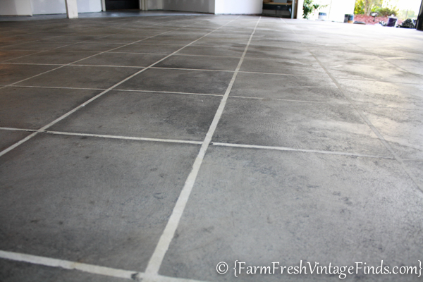 How to Stain a Concrete Garage-19