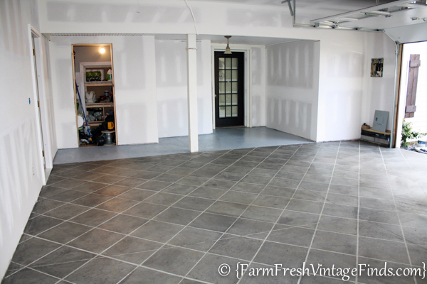 How to pimp your garage floor on a budget farm fresh for What can i do to my concrete floor