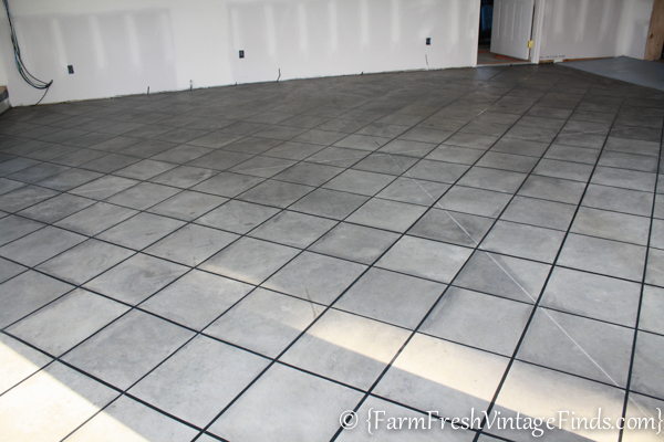 How to Stain a Concrete Garage-7