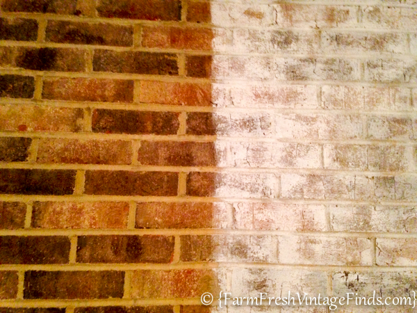 brick before and after whitewashing