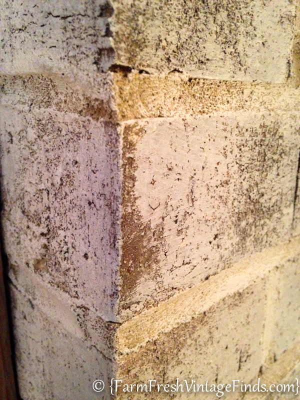 white washed brick closeup