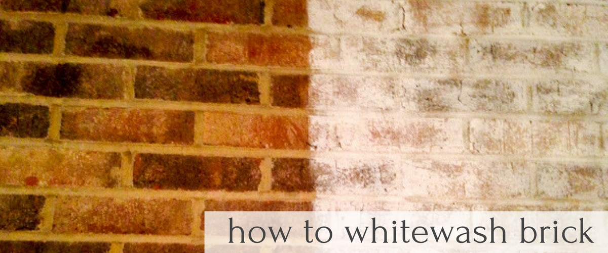 Learn how to Whitewash Brick with Farm Fresh Vintage Finds