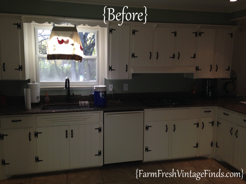 Interior Refacing Old Kitchen Cabinets kitchen cabinet refacing on a budget farm fresh vintage finds before