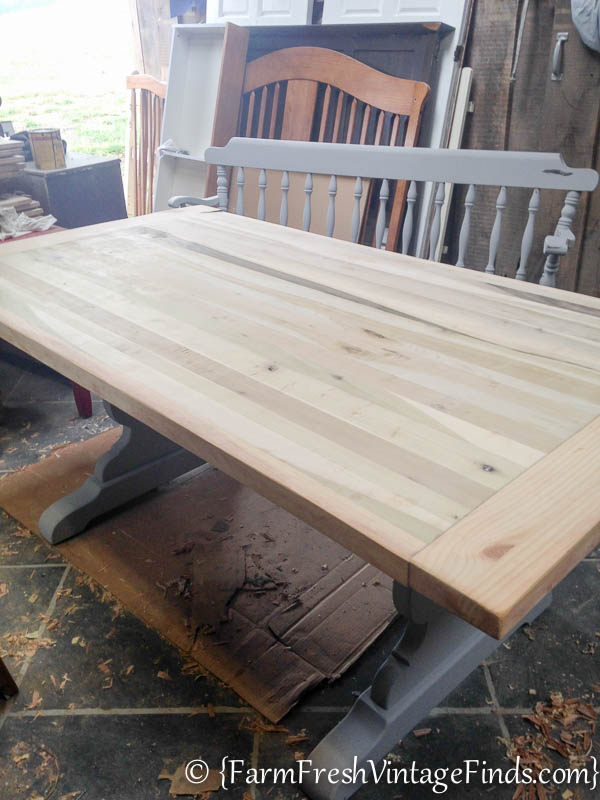 Refinishing a Farmtable-8