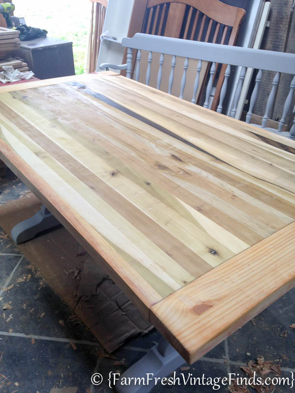Refinishing a Farmtable-9